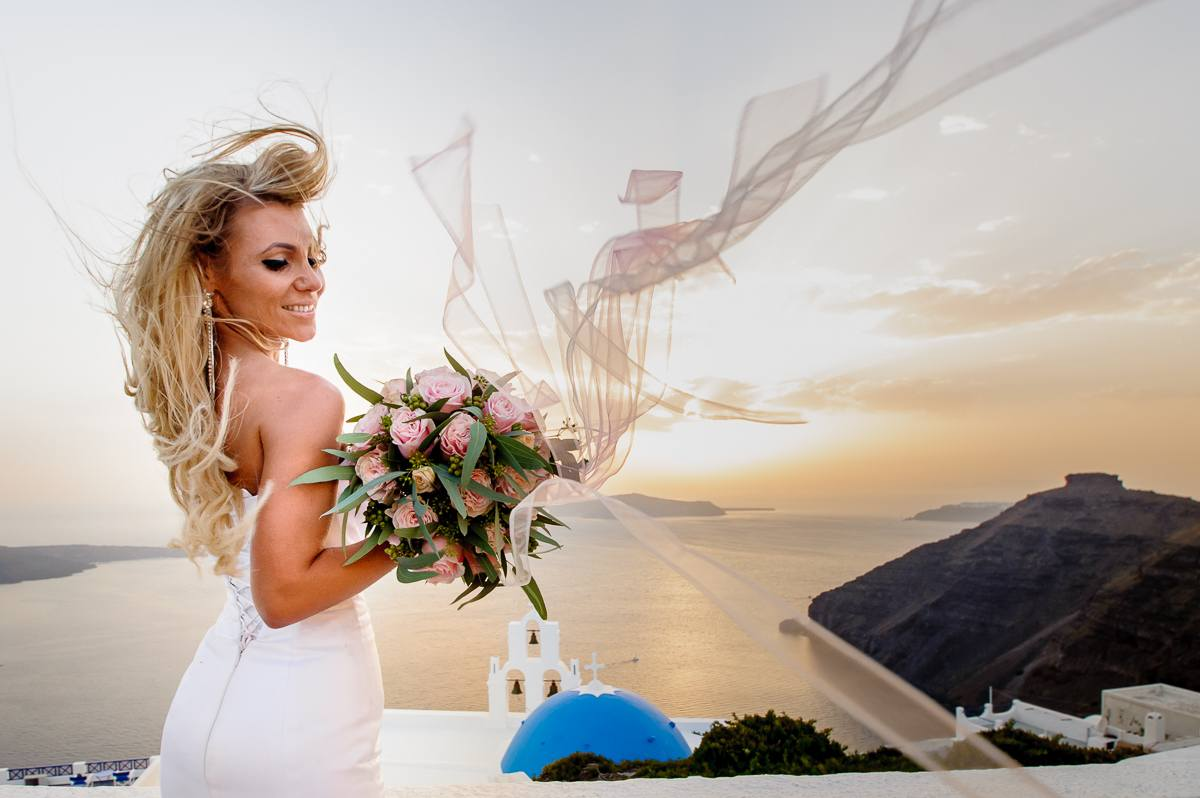 Sesja Ślubna Santorini Gracja fotograf ślubny