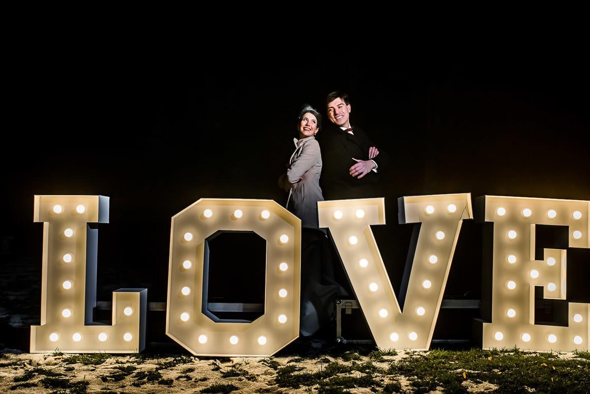 świecące litery LOVE na wesele Śląsk Małopolska