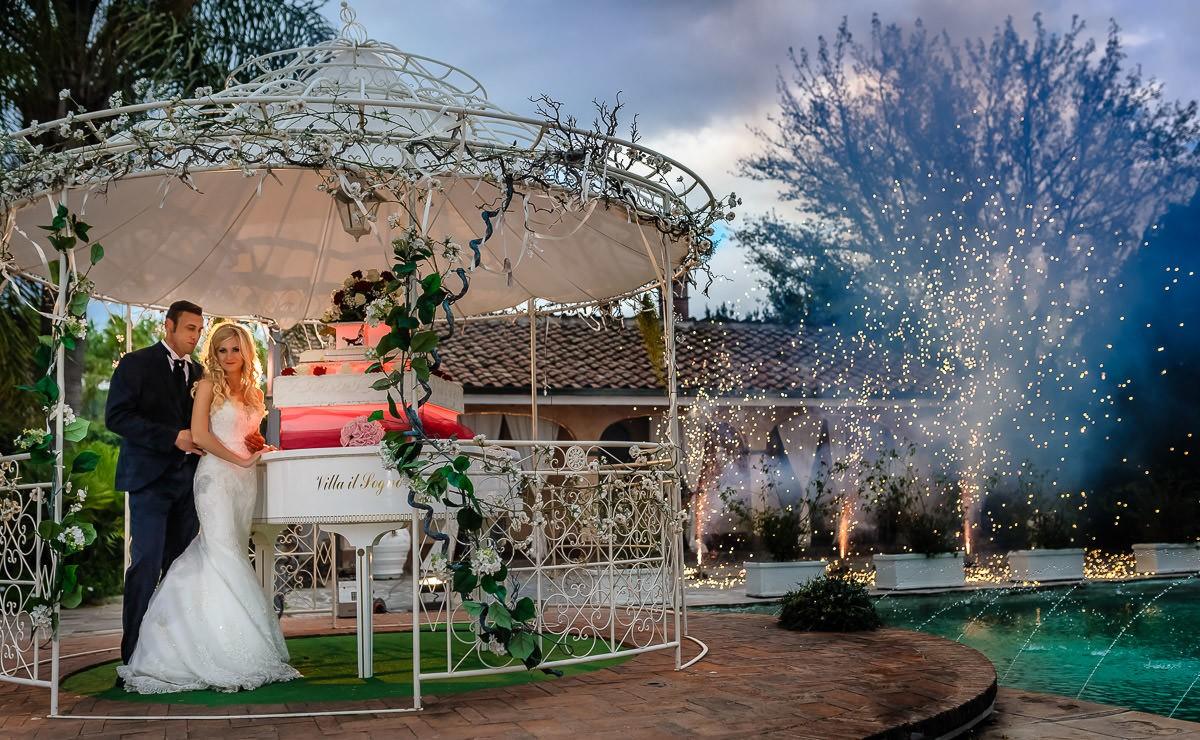 tort weselny na ogrodzie fotografia ślubna Śląsk Małopolska
