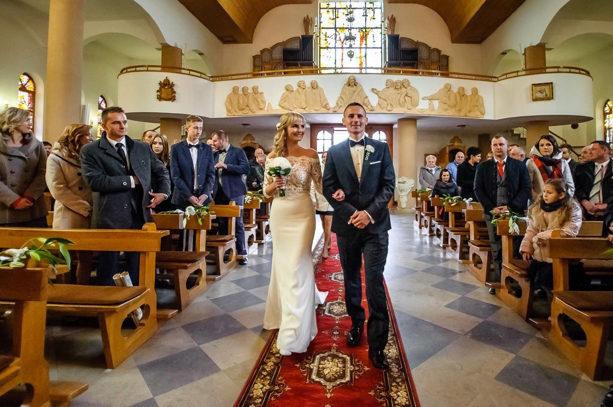 ślub w kościele w Jaworznie