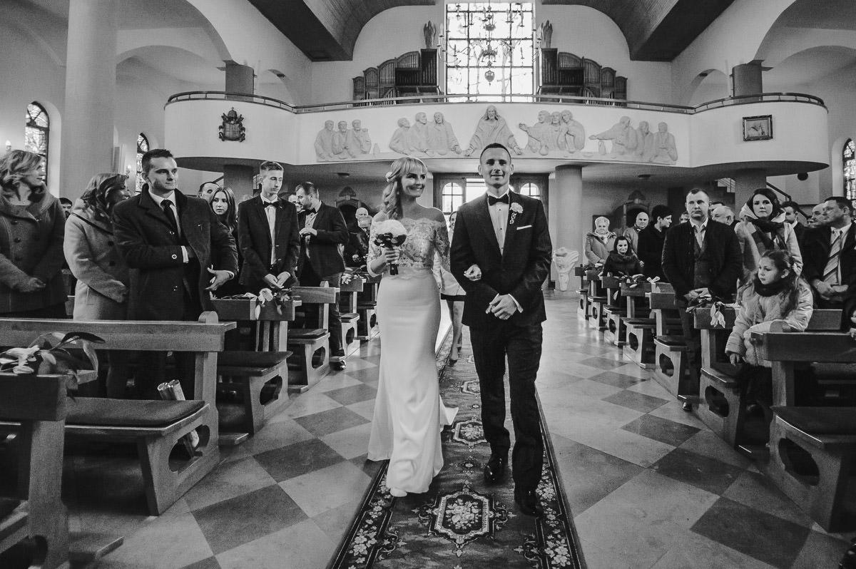 ślub w kościele w Jaworznie fotograf ślubny Jaworzno Śląsk Katowice