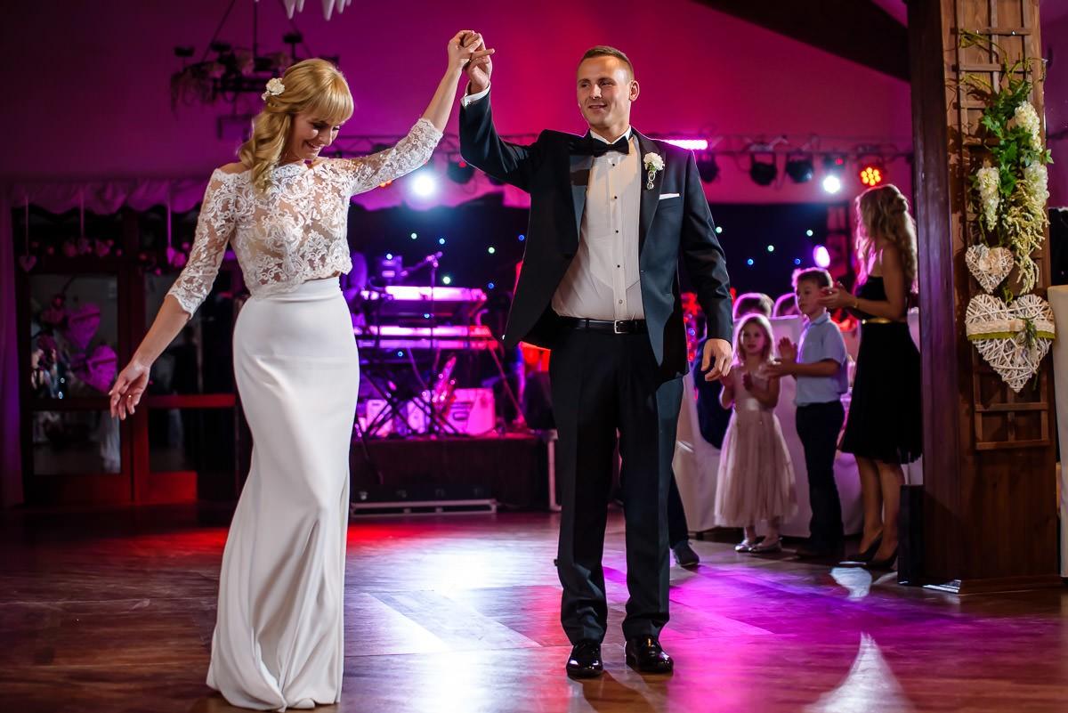 pierwszy taniec na weselu fotograf ślubny Kraków Jaworzno Trzebinia
