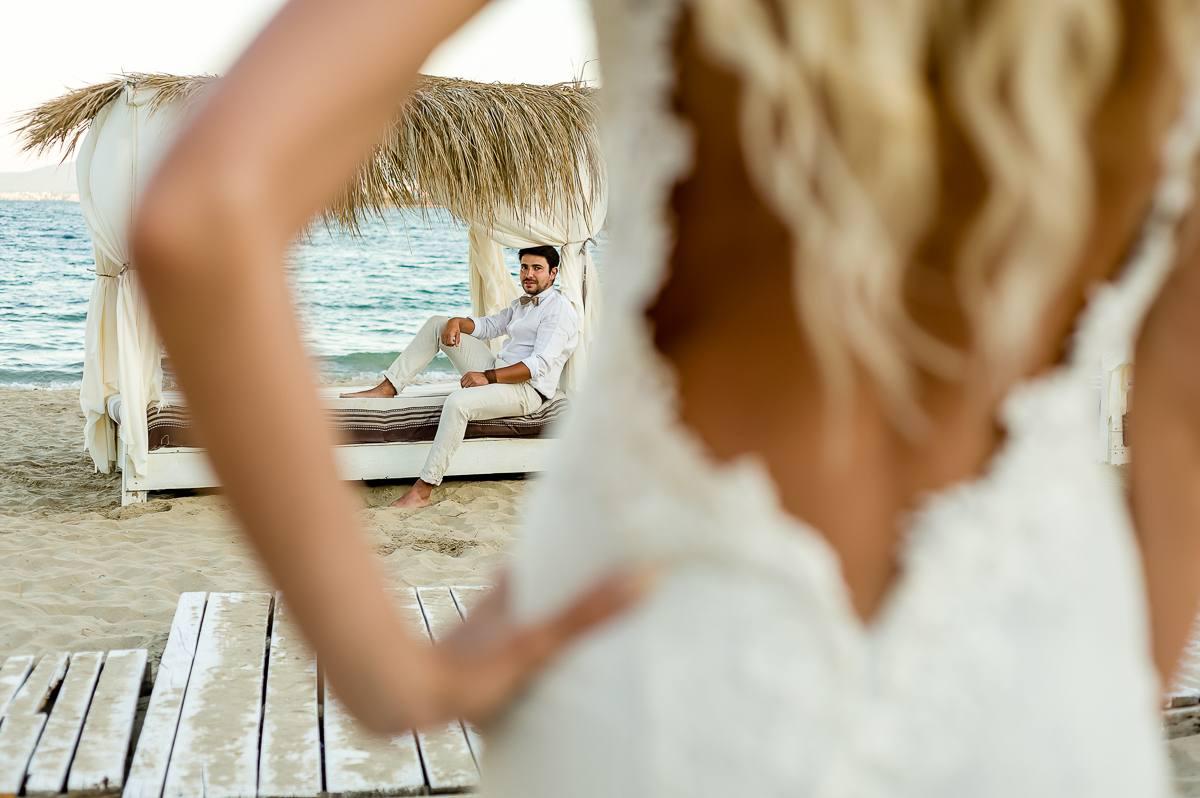 ślubna sesja na plaży nad morzem fotograf ślubny Śląsk Małopolska