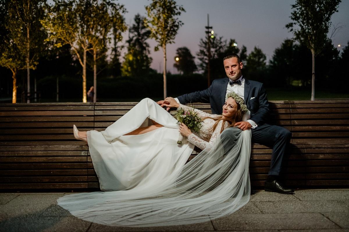zdjęcia ślubne w nocy