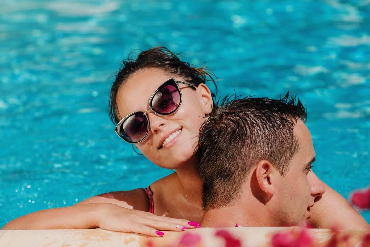 sesja w basenie