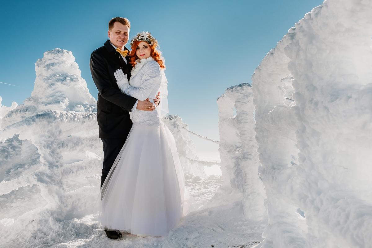 lub wesele sesja ślubna zimą w górach fotogenesis 184