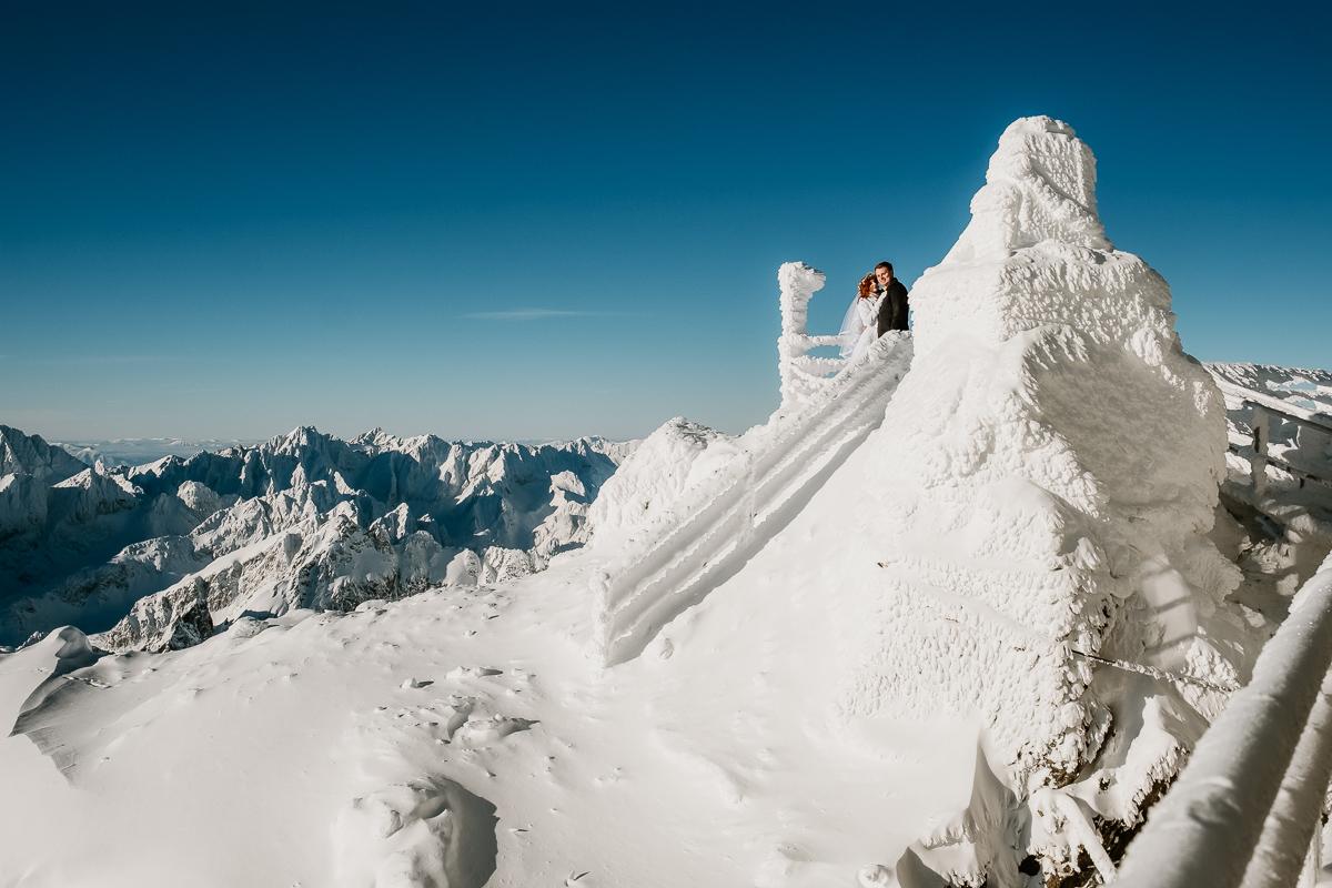 lub wesele sesja ślubna zimą w górach fotogenesis 185
