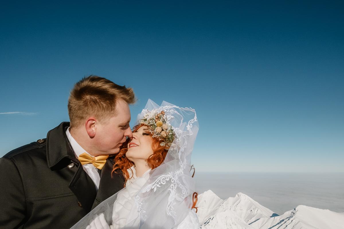 lub wesele sesja ślubna zimą w górach fotogenesis 194