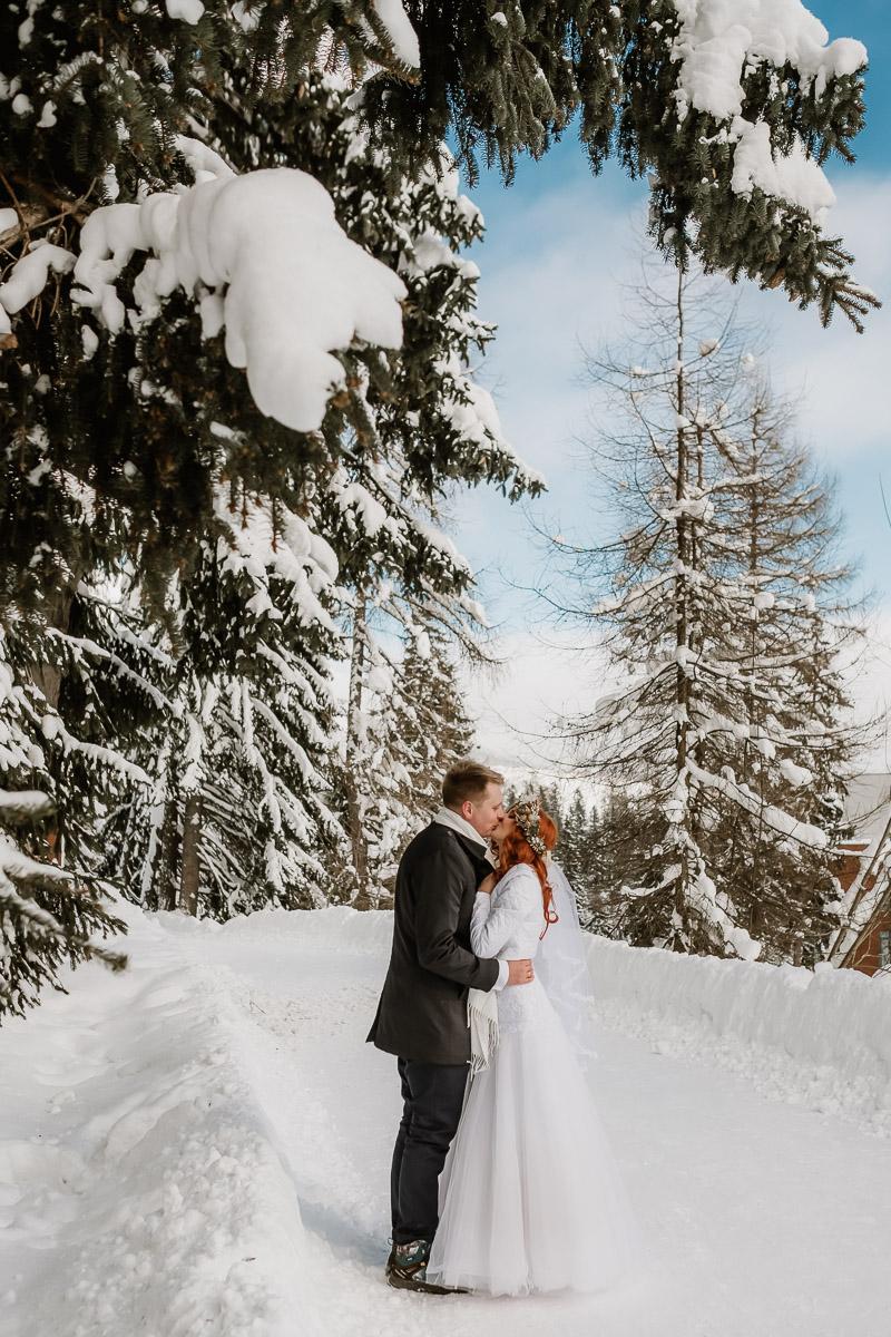lub wesele sesja ślubna zimą w górach fotogenesis 208