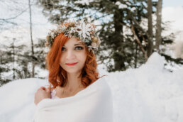 sesja ślubna w zimie w górach